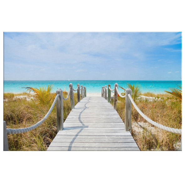 Beach Boardwalk Canvas Wall Art