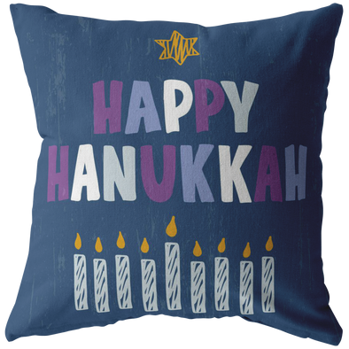 Wishing Happy Hanukkah Throw Pillow