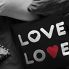 Double Love Throw Pillow