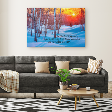 In the Depth Of Winter Canvas Wall Art