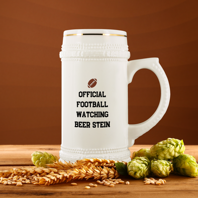 Official Football Watching 22oz Beer Stein
