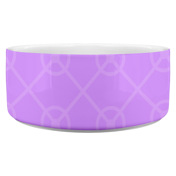 Modern Purple Pet Bowl