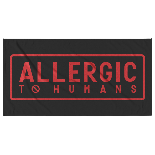 Allergic To Humans Beach Towel