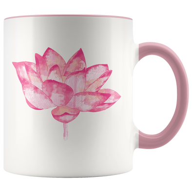 Pink Lotus 11oz Accent Mug
