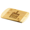 Good Food, Good Life Round Edge Bamboo Cutting Board