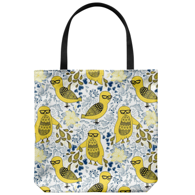 Spring Chicken with Glasses Tote Bag
