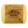 Cooking With Love Round Edge Bamboo Cutting Board