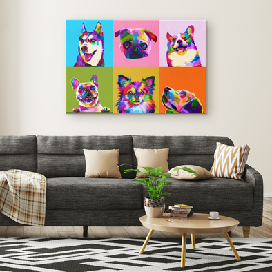 Dogs' Lover Canvas Wall Art