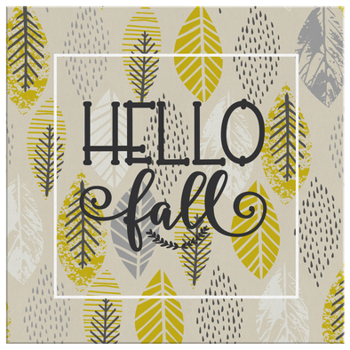 Hello Fall Canvas Wall Art