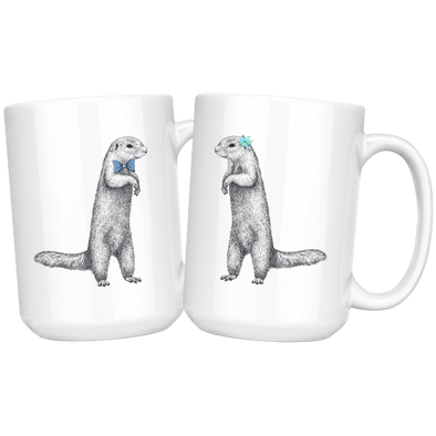Mr. and Mrs. Otter 15oz Matching White Mug
