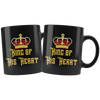 King Of His Heart 11oz Matching Black Mugs