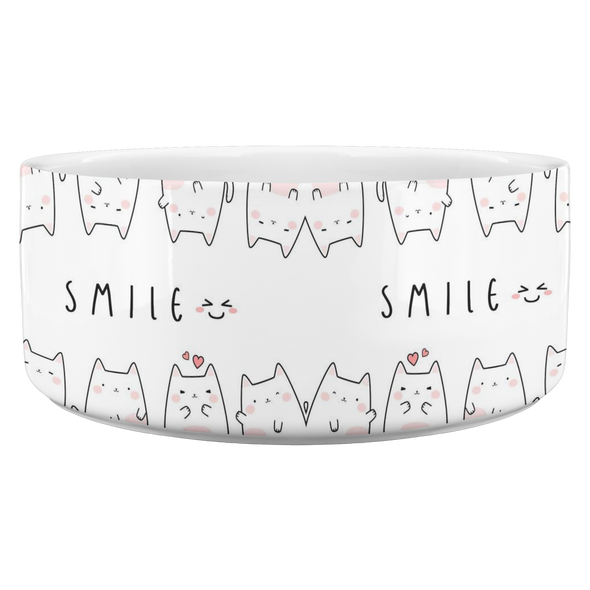 Smile, It's Lunch Time Cat Bowl