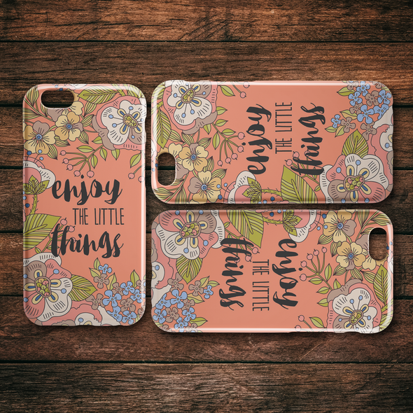 Enjoy The Little Things iPhone Case