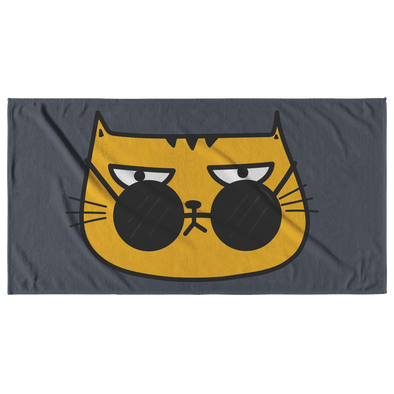 This Cat Is Judging Your Life Choices Beach Towel