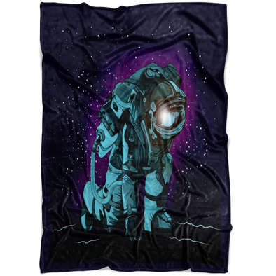 Space Travel Fleece Blanket