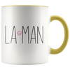 La Man  11oz Accent Mug