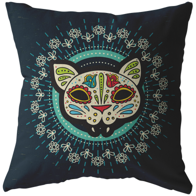 The Cat of the Dead Throw Pillow