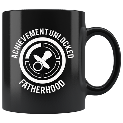 Acheivement Unlocked Fatherhood 11oz Black Mug