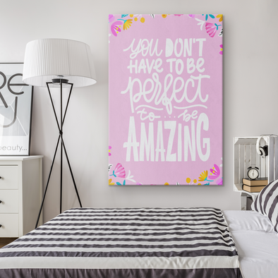 To be Amazing Canvas Wall Art