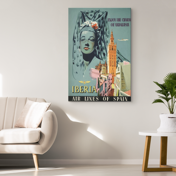 Vintage Andalusia Canvas Wall Art