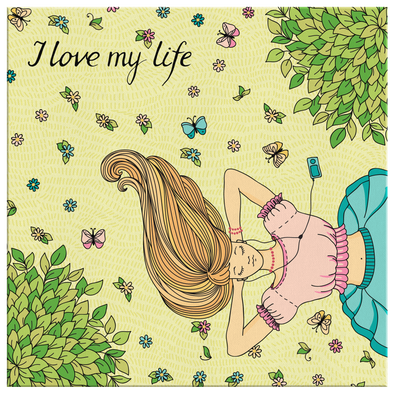 I Love My Life Camvas Wall Art