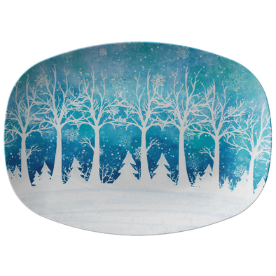 "Winter Style 14"" Serving Platter"