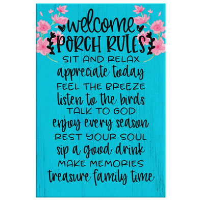 Porch Rules Canvas Wall Art