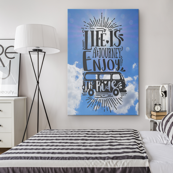 Life Is A Journey Enjoy The Ride Canvas Wall Art