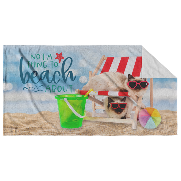 Not a Thing to Beach About Cat Beach Towel