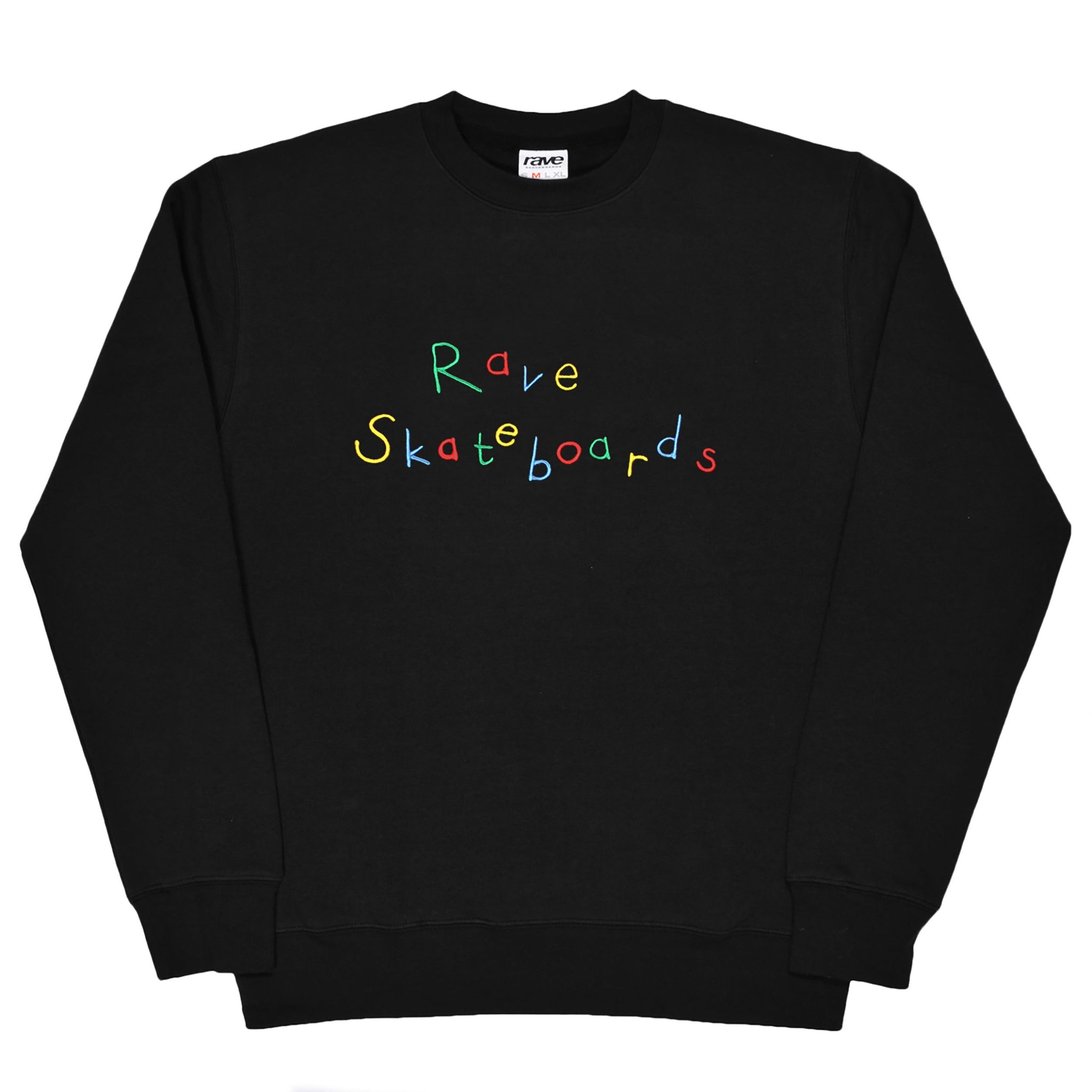 RAVE - RECESS BLACK CREWNECK