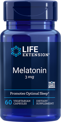 A bottle of Life Extension Melatonin 3mg