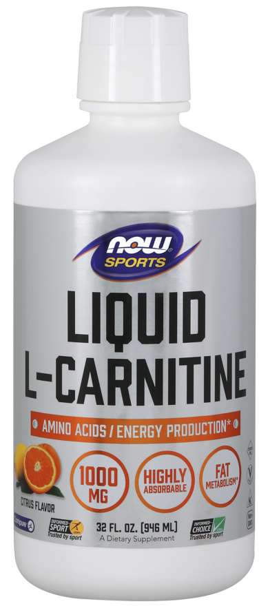Liquid L-Carnitine 1000mg Citrus - 32 fl oz - Now Foods