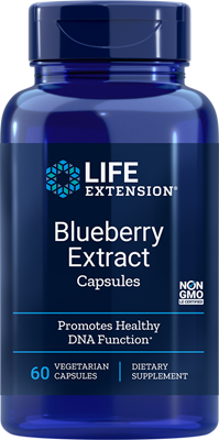 A bottle of Life Extension Blueberry Extract
