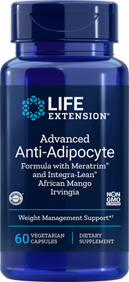 A bottle of Life Extension Advanced Anti-Adipocyte Formula