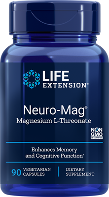 A bottle of Life Extension Neuro-Mag® Magnesium L-Threonate