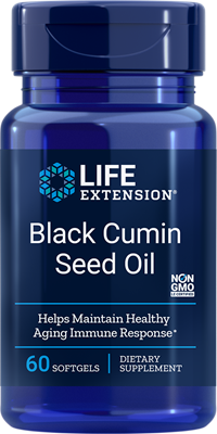 A bottle of Life extension Black Cumin Seed Oil