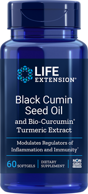 A Bottle of Life Extension Black Cumin Seed Oil with Bio-Curcumin®