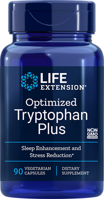 A bottle of Life Extension Optimized Tryptophan Plus
