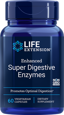 A bottle of Life Extension Enhanced Super Digestive Enzymes