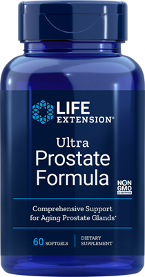 A bottle of Life Extension Ultra Prostate Formula