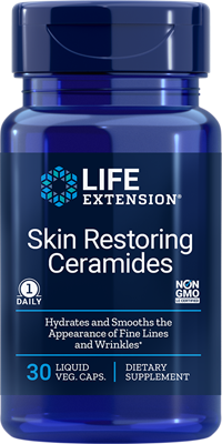 A bottle of Life Extension Skin Restoring Ceramides