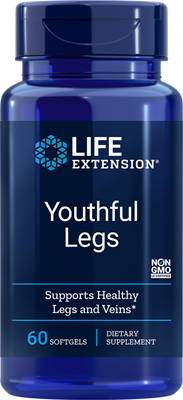A bottle of Life Extension Youthful Legs