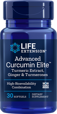 A bottle of Life Extension Advanced Bio-Curcumin® with Ginger & Turmerones