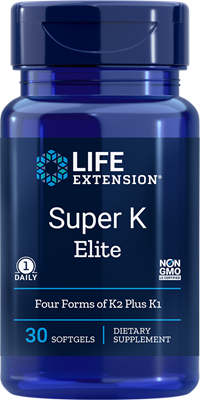 A bottle of Life Extension Super K Elite