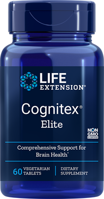 A bottle of Life Extension Cognitex® Elite