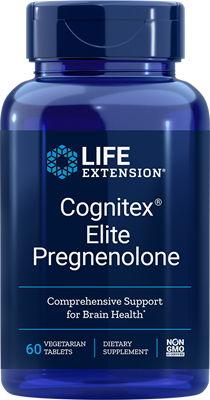 A bottle of Life Extension Cognitex® Elite Pregnenolone