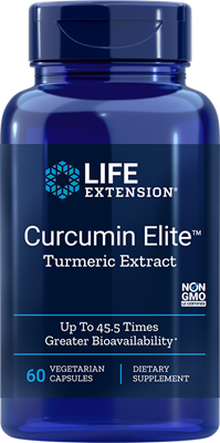A bottle of Life Extension Curcumin Elite™ Turmeric Extract