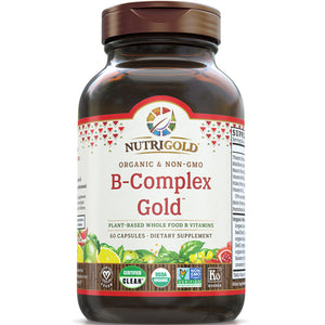 A bottle of NutriGold Vitamin B-Complex Gold