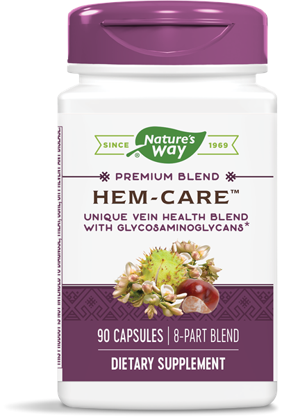 A bottle of Nature's Way Hem-Care