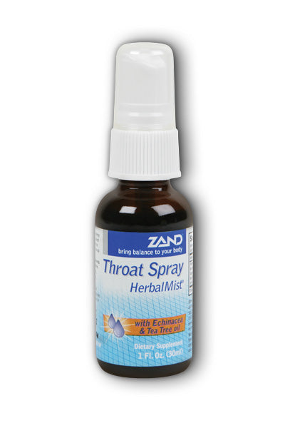 A bottle of HerbalMist Thoat Spray Zand